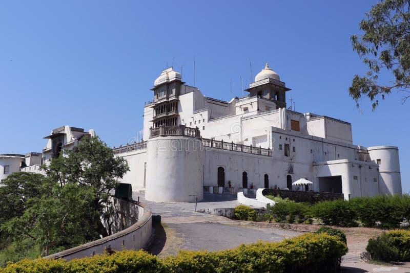 Το παλάτι μουσώνα ή παλάτι Sajjan Garh, Udaipur, Rajasthan στοκ εικόνες