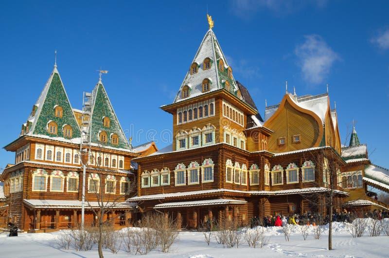 Το παλάτι του τσάρου Alexei Mikhailovich σε Kolomenskoye, Μόσχα, Ρωσία στοκ εικόνες