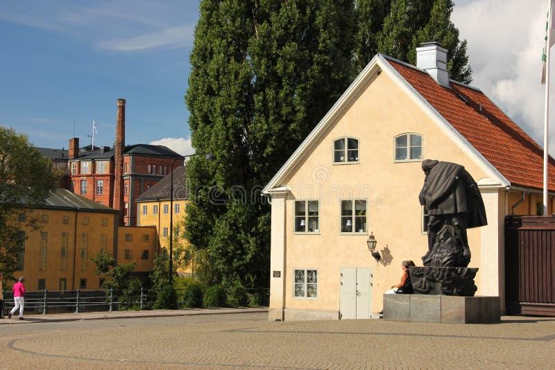 Το παλαιά τετράγωνο και τα εργοστάσια. Norrkoping. Σουηδία στοκ φωτογραφίες με δικαίωμα ελεύθερης χρήσης