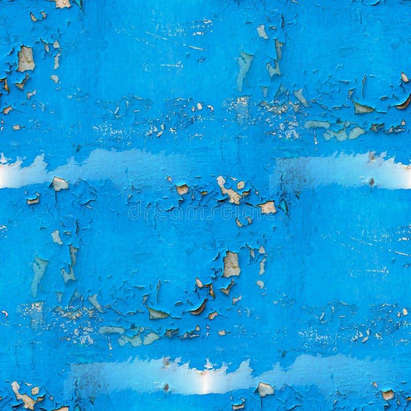 Το παλαιοί χρώμα και ο τοίχος ράγισαν την μπλε άνευ ραφής σύσταση στοκ φωτογραφίες με δικαίωμα ελεύθερης χρήσης