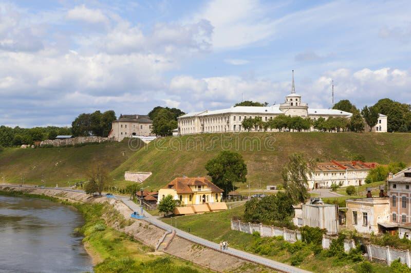 Το παλαιό και νέο Castle Γκρόντνο belatedness στοκ φωτογραφία