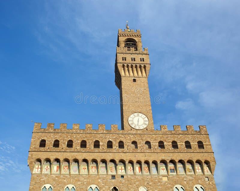 Το παλαιό παλάτι, το Palazzo Vecchio ή della Signoria, Flore Palazzo στοκ εικόνα