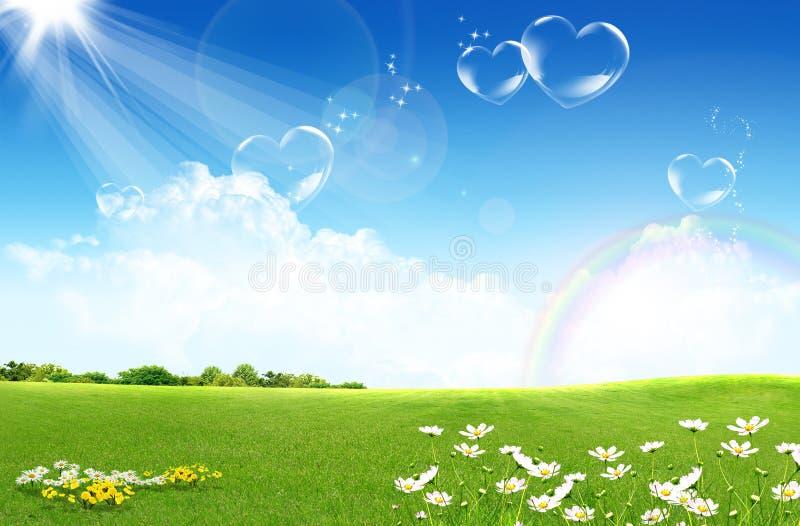 Download το πεδίο ανθίζει πράσινο απεικόνιση αποθεμάτων. εικονογραφία από γη - 13176361