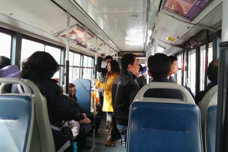 Λεωφορείο στο Πεκίνο στοκ φωτογραφία