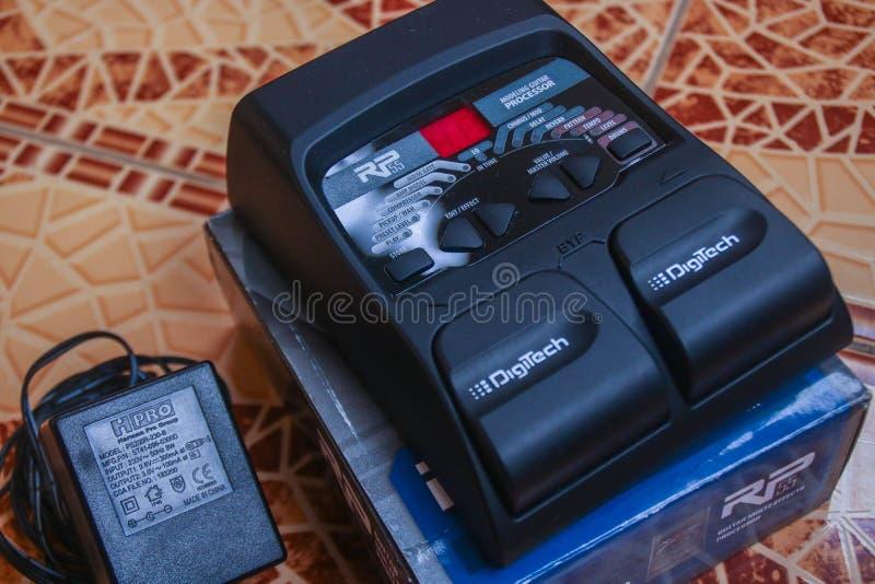Το πεντάλι πολυ-επιδράσεων κιθάρων DigiTech RP55 στοκ φωτογραφίες με δικαίωμα ελεύθερης χρήσης