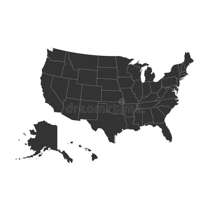 το περίγραμμα χαρτών περιγράμματος δηλώνει τις ΗΠΑ ελεύθερη απεικόνιση δικαιώματος