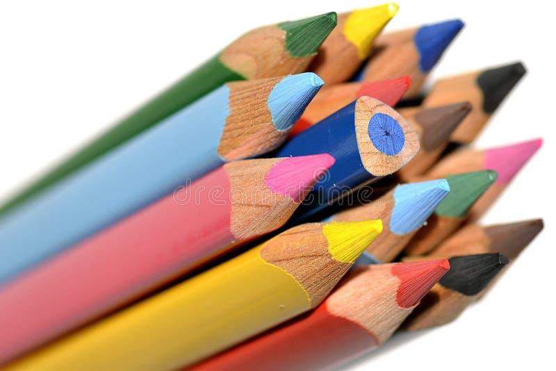 Το περίεργο μολύβι στοκ εικόνες