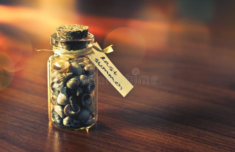 Το περασμένο καλοκαίρι μπουκάλι των μνημών στοκ φωτογραφία με δικαίωμα ελεύθερης χρήσης