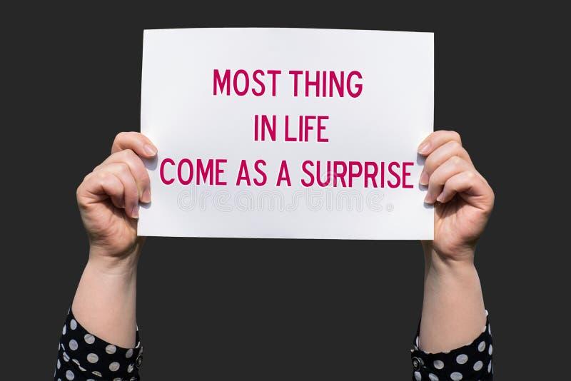 Το περισσότερο πράγμα στη ζωή αποτελεί έκπληξη στοκ φωτογραφία