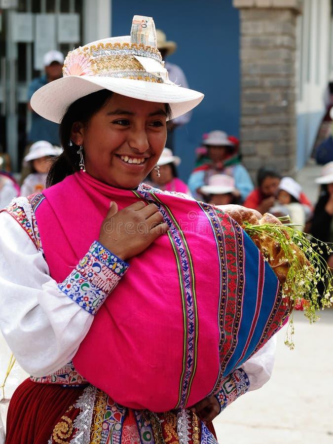 Το Περού, οι πιό ενδιαφέρουσες θέσεις της Νότιας Αμερικής, περουβιανό φεστιβάλ Wititi προστάτευσε την ΟΥΝΕΣΚΟ στοκ φωτογραφία με δικαίωμα ελεύθερης χρήσης