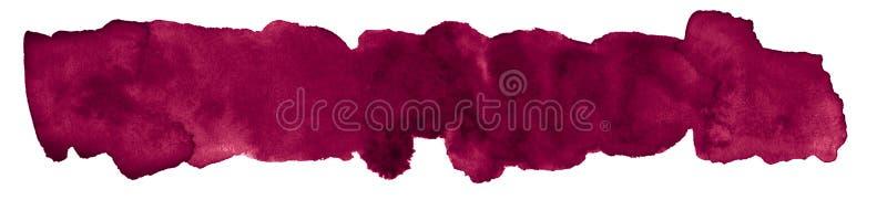 Το περσικό κόκκινο watercolor είναι ένα χρώμα τάσης, ένα απομονωμένο σημείο με τα διαζύγια και τα σύνορα Πλαίσιο με το διάστημα α ελεύθερη απεικόνιση δικαιώματος