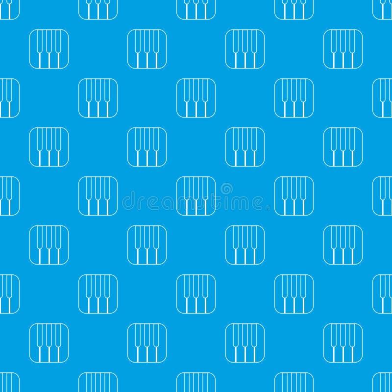 Το πιάνο κλειδώνει το διανυσματικό άνευ ραφής μπλε σχεδίων απεικόνιση αποθεμάτων