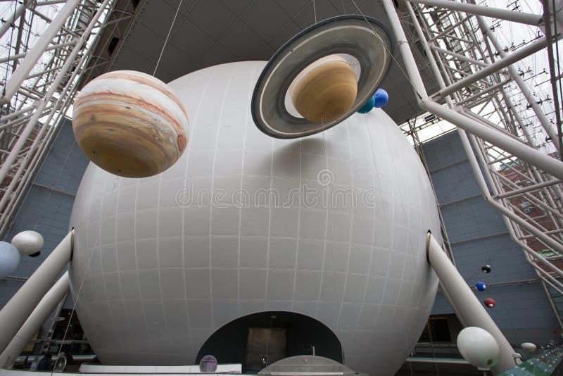 Το πλανητάριο του Hayden στο ροδαλό κέντρο για τη γη και το διάστημα, Νέα Υόρκη στοκ φωτογραφίες με δικαίωμα ελεύθερης χρήσης