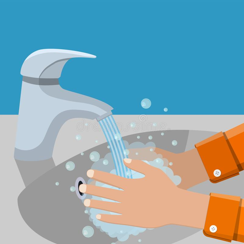 Το πλύσιμο παραδίδει το νεροχύτη ελεύθερη απεικόνιση δικαιώματος