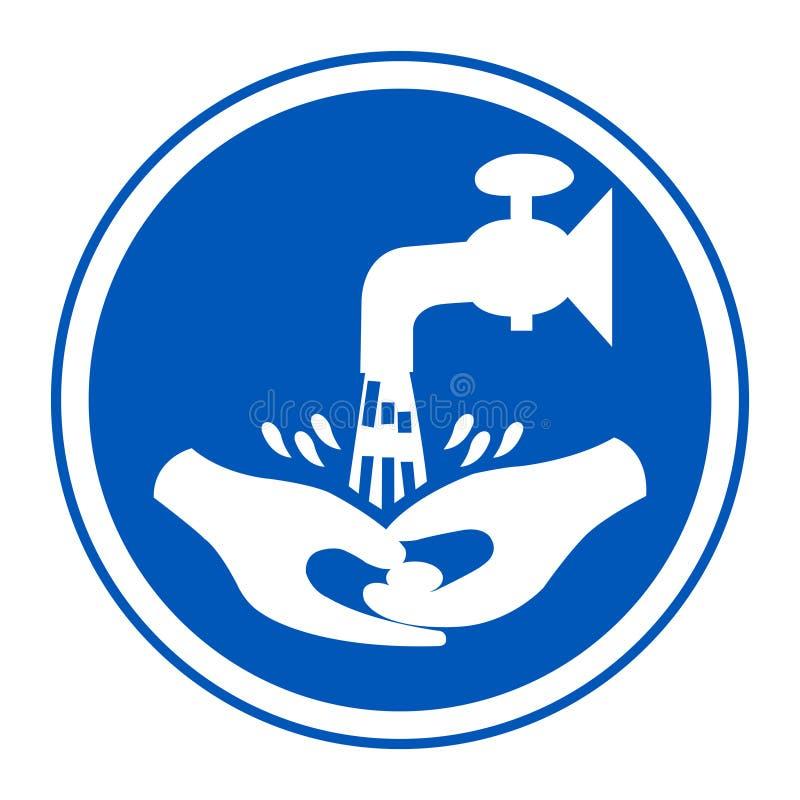 Το πλύσιμο συμβόλων τα χέρια σας παρακαλώ απομονώνει στο άσπρο υπόβαθρο, διανυσματική απεικόνιση EPS 10 ελεύθερη απεικόνιση δικαιώματος
