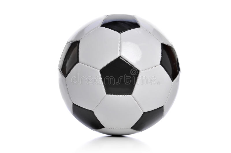 το ποδόσφαιρο απομόνωσε & στοκ φωτογραφία με δικαίωμα ελεύθερης χρήσης