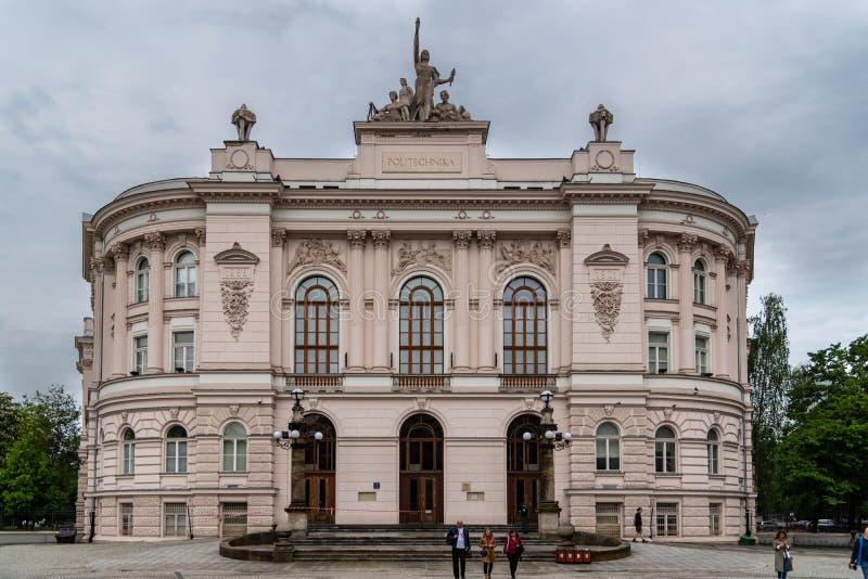 Το πολυτεχνείο WarsaWarsaw είναι ένα από τα κύρια Τεχνολογικά Ινστιτούτα στην Πολωνία στοκ εικόνες με δικαίωμα ελεύθερης χρήσης