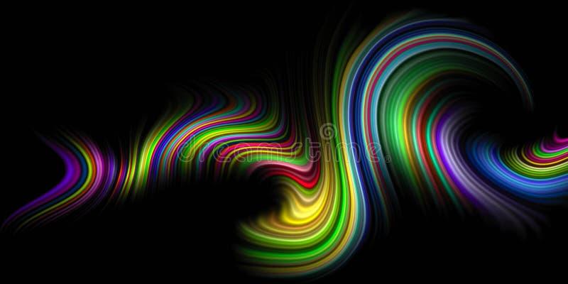 Το πολύχρωμο διάνυσμα σκίασε την κυματιστή ταπετσαρία υποβάθρου ζωηρή διανυσματική απεικόνιση χρώματος διανυσματική απεικόνιση