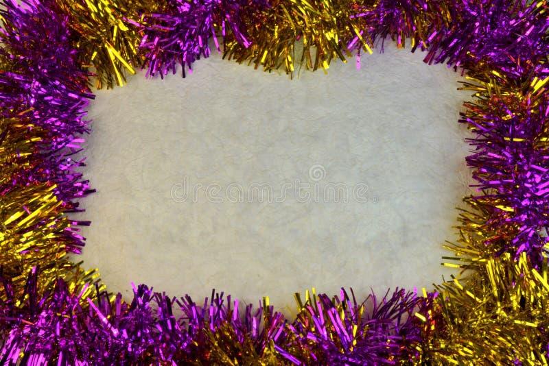 Το πολύχρωμο πλαίσιο συνόρων υποβάθρου για τα Χριστούγεννα και το νέο έτος στοκ εικόνα με δικαίωμα ελεύθερης χρήσης