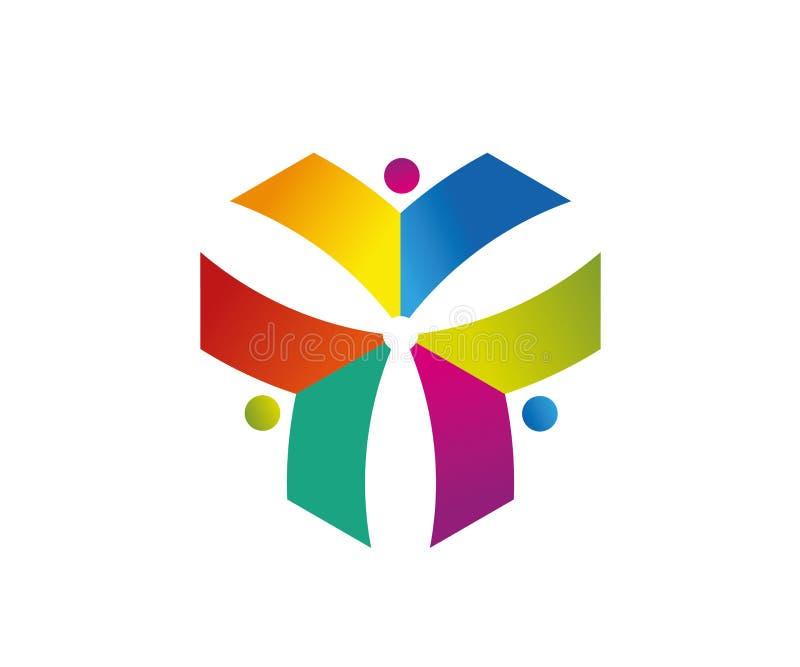 Το πολύχρωμο στοιχείο σχεδίασης λογότυπου Vector μπορεί να κλιμακωθεί σε οποιοδήποτε μέγεθος χωρίς απώλεια ποιότητας Αρχείο EPS δ απεικόνιση αποθεμάτων