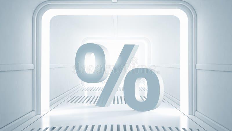 Το ποσοστό προσωπικού ενδιαφέροντος σας διανυσματική απεικόνιση