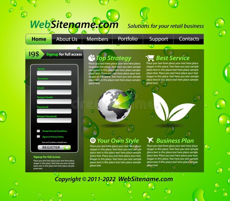 το πράσινο πρότυπο eco ο ιστ&omicron ελεύθερη απεικόνιση δικαιώματος