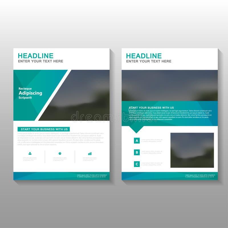 Το πράσινο σχέδιο προτύπων επιχειρησιακών προτάσεων ιπτάμενων φυλλάδιων φυλλάδιων κομψότητας διανυσματικό, σχέδιο σχεδιαγράμματος διανυσματική απεικόνιση
