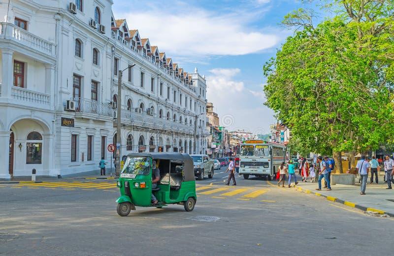 Το πράσινο tuk tuk στοκ εικόνα