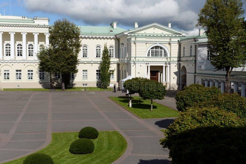 Το προαύλιο του προεδρικού παλατιού σε Vilnius στοκ εικόνα