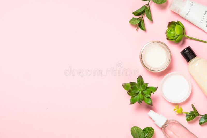 Το προϊόν φροντίδας δέρματος, φυσικό καλλυντικό επίπεδο βρέθηκε στοκ εικόνα
