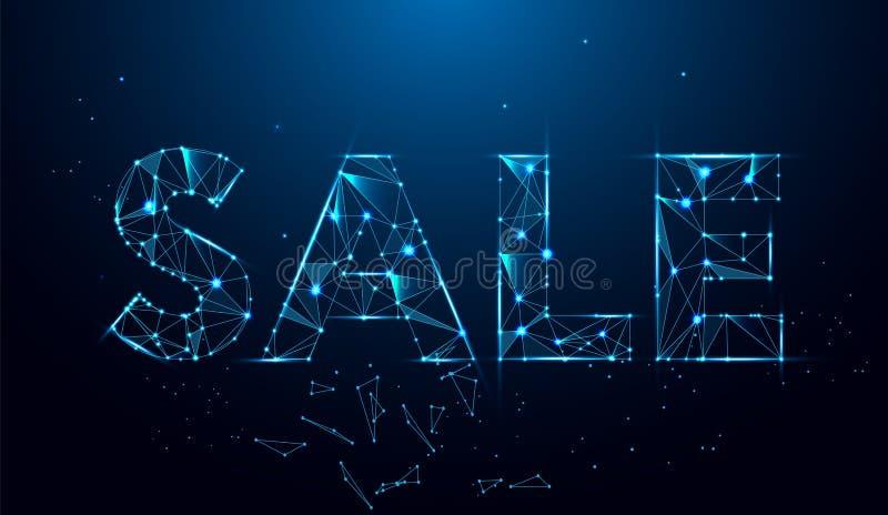το πρόσθετο έμβλημα είναι μπορεί αλλαγμένος να σχηματοποιήσει την πώληση Γεωμετρικό polygonal έμβλημα πώλησης αφηρημένο διανυσματ ελεύθερη απεικόνιση δικαιώματος