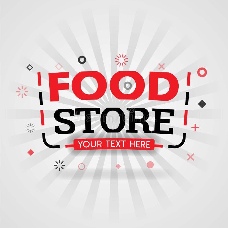 Το πρότυπο για το κατάστημα τροφίμων πωλεί το κόκκινο βιβλίο κάλυψης Μπορέστε να είστε χρήση για την αφίσα διαφήμισης τροφίμων κα ελεύθερη απεικόνιση δικαιώματος