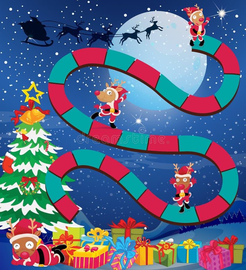 Το πρότυπο παιχνιδιών με τους ταράνδους και παρουσιάζει ελεύθερη απεικόνιση δικαιώματος