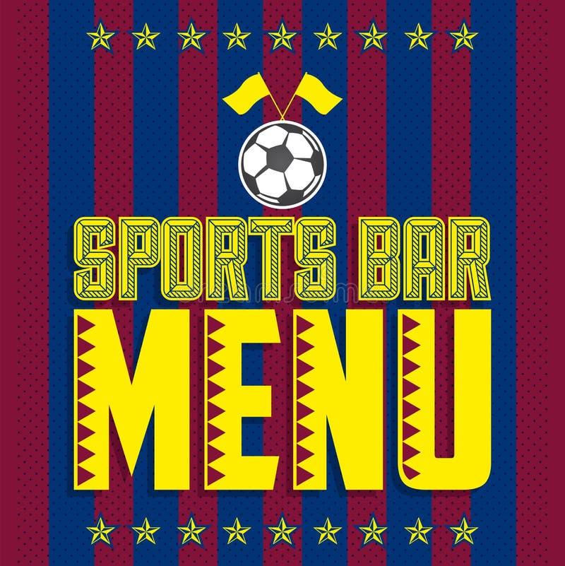 Το πρότυπο σχεδίου κάλυψης επιλογών αθλητικών φραγμών, ποδόσφαιρο το εστιατόριο διανυσματική απεικόνιση