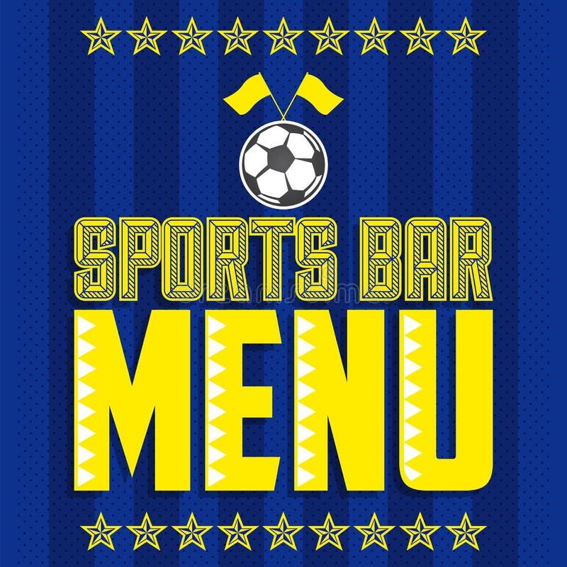 Το πρότυπο σχεδίου κάλυψης επιλογών αθλητικών φραγμών, ποδόσφαιρο το εστιατόριο ελεύθερη απεικόνιση δικαιώματος