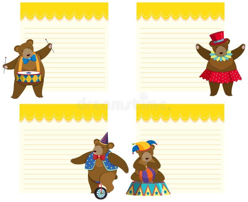 Το πρότυπο σχεδίου πλαισίων με το τσίρκο αντέχει απεικόνιση αποθεμάτων