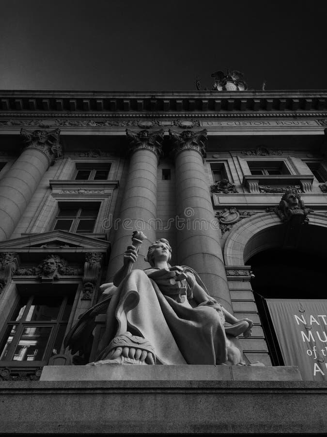 Το πρώην αμερικανικό τελωνείο στεγάζει το χαμηλότερο Μανχάταν NYC στοκ φωτογραφίες με δικαίωμα ελεύθερης χρήσης