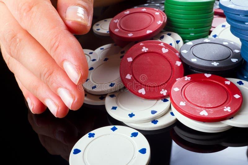 το πόκερ κερδίζει Στοκ Εικόνες
