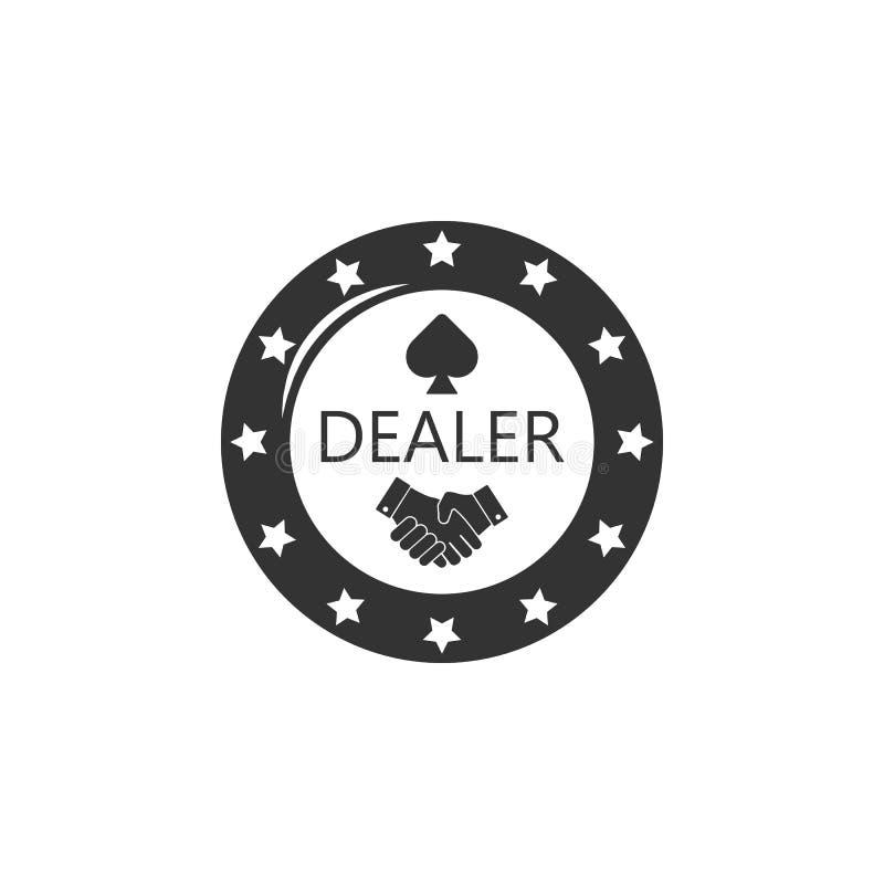 Το πόκερ πελεκά το εικονίδιο Στοιχείο του εικονιδίου αερολιμένων για την κινητούς έννοια και τον Ιστό apps Το λεπτομερές πόκερ πε απεικόνιση αποθεμάτων