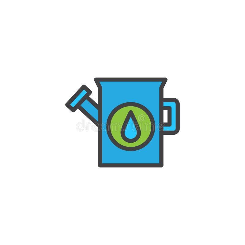 Το πότισμα μπορεί γεμισμένος να περιγράψει το εικονίδιο απεικόνιση αποθεμάτων