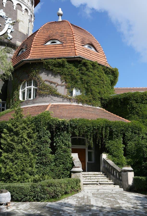 Το πόλη-θέρετρο Svetlogorsk μέχρι το 1947 - η γερμανική πόλη Rauschen Ιστορικό κτήριο - SPA πύργων στοκ φωτογραφίες