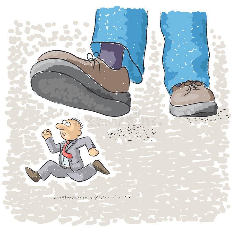 Το πόδι ποδοπατά το άτομο ελεύθερη απεικόνιση δικαιώματος