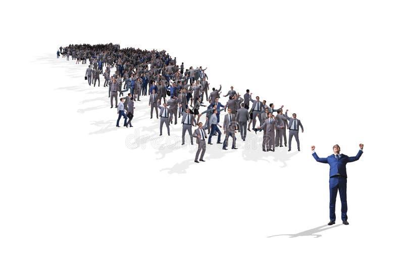 Το πλήθος των επιχειρηματιών στην έννοια στοκ εικόνες