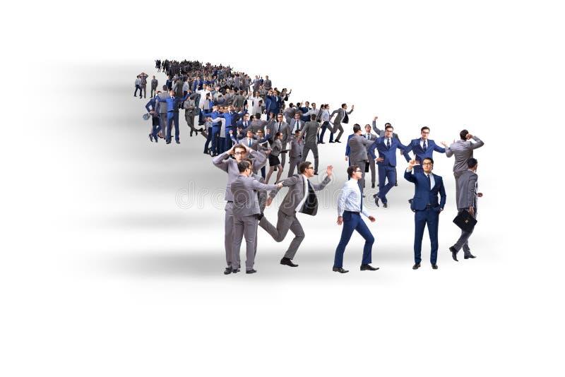 Το πλήθος των επιχειρηματιών στην έννοια στοκ φωτογραφία