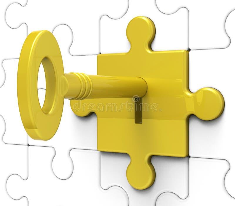 Το πλήκτρο στο κλείδωμα εμφανίζει κρυμμένα μυστικά στοκ εικόνα με δικαίωμα ελεύθερης χρήσης