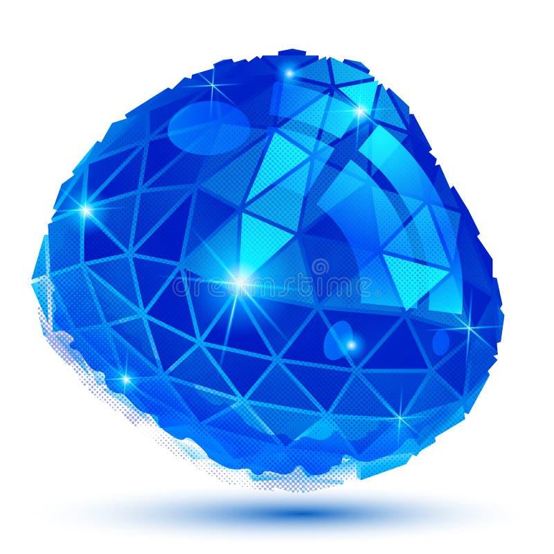Το πλαστικό στιλπνός τρισδιάστατος κυβερνητικός πρότυπος, αντανακλαστικός διανυσματική απεικόνιση