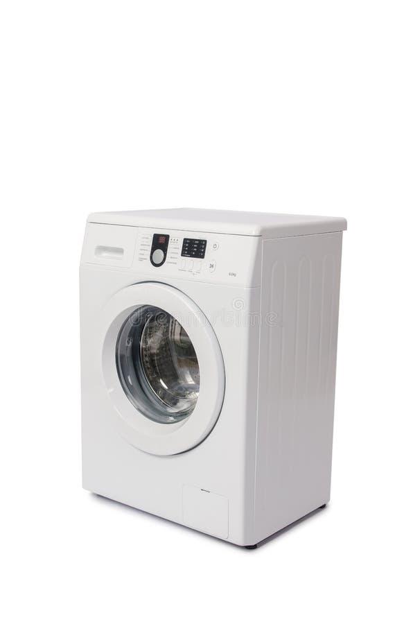 Το πλυντήριο που απομονώνεται στο άσπρο υπόβαθρο στοκ εικόνες με δικαίωμα ελεύθερης χρήσης