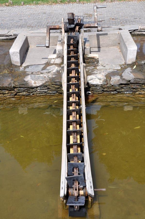 Δράκος-κόκκαλο Waterwheel στοκ φωτογραφία