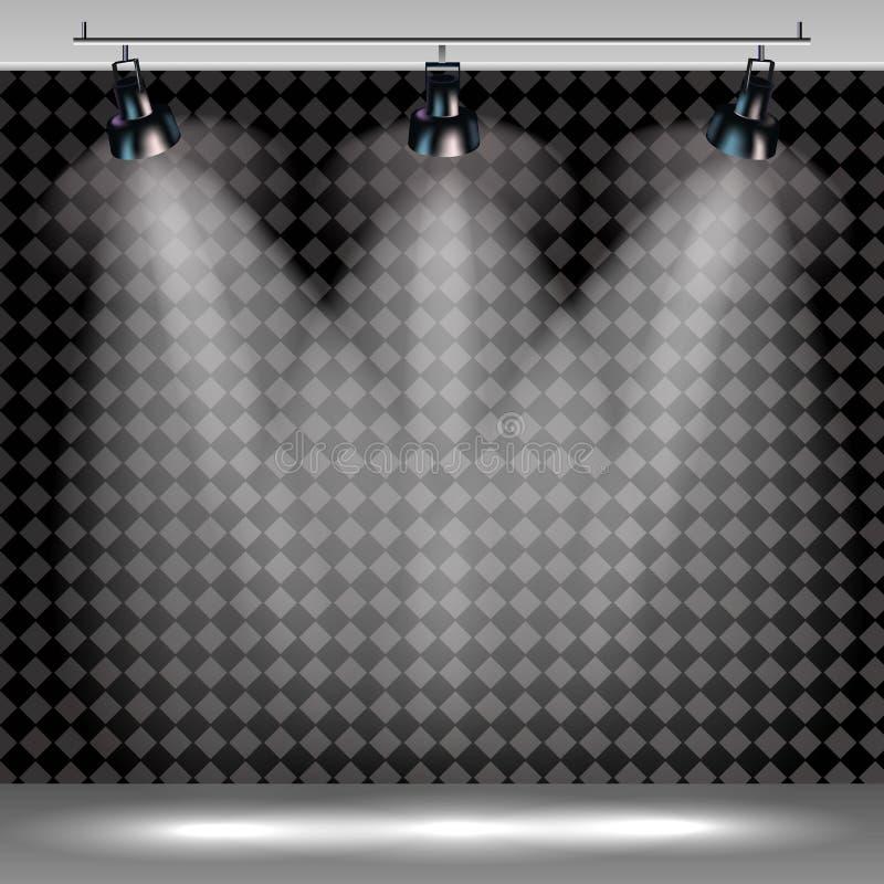 Το ρεαλιστικό διαφανές υπόβαθρο επικέντρων για παρουσιάζει το διαγωνισμό ή συνέντευξη ελεύθερη απεικόνιση δικαιώματος