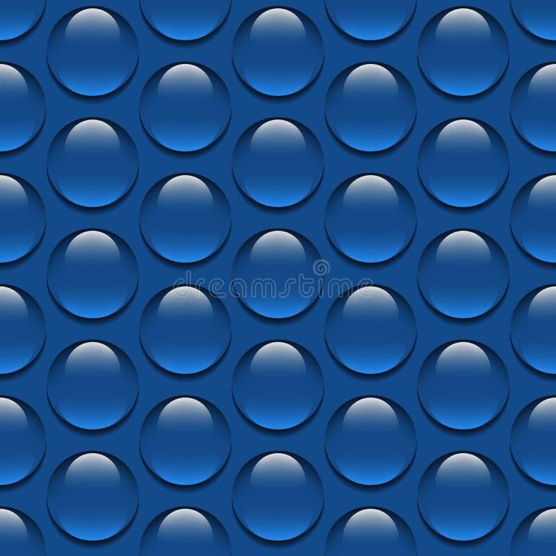 Το ρεαλιστικό νερό γυαλιού ρίχνει την άνευ ραφής σχεδίων απεικόνιση σταγόνων βροχής νερού υποβάθρου διανυσματική απεικόνιση αποθεμάτων